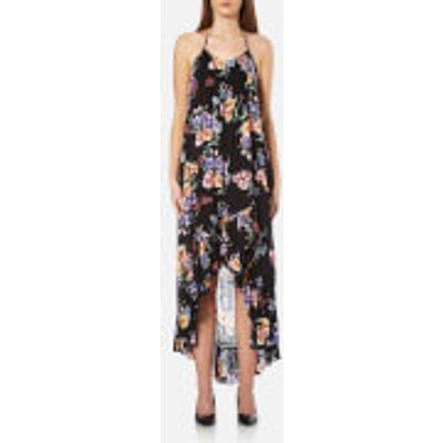 MINKPINK Women s Hidden Wonder Halter Dress   Black Floral   L   Black - 888348475113