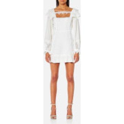 For Love   Lemons Women s Crema Silk Linen Dress   White   S   White - 849454087133
