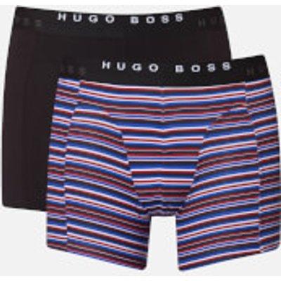 BOSS Hugo Boss Men s 2 Pack Print Boxer Briefs   Open Blue   L   Blue - 4029045078351
