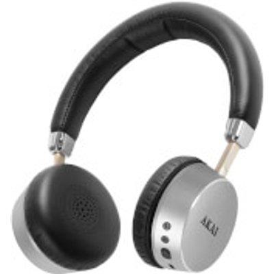 Akai DYNMX Wireless Bluetooth Headphones   Silver - 5055195896209