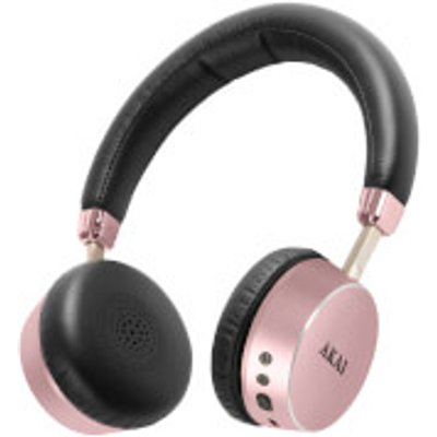 Akai DYNMX Wireless Bluetooth Headphones   Rose Gold - 5056032902695