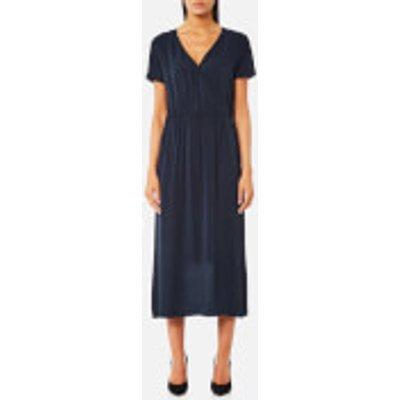Samsoe   Samsoe Women s Dessy V Neck Dress   Dark Sapphire   XS   Blue - 5711450996748