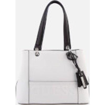 Guess Women s Kamryn Shopper Bag   White Multi - 7613359152028