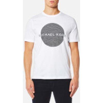 Michael Kors Men s Wave Circle Logo T Shirt   White   XXL   White - 191214047308