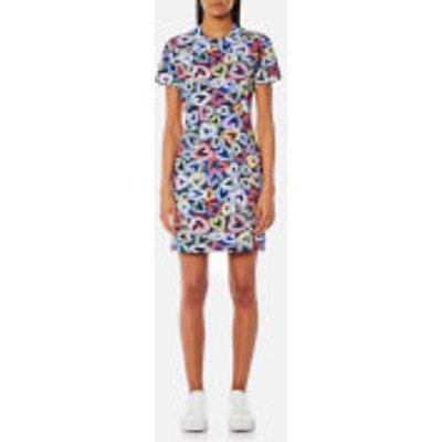 Love Moschino Women s Heart T Shirt Dress   Multi   IT 38 UK 6   Multi - 8056682844793