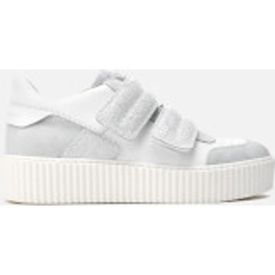 MM6 Maison Margiela Women's Double Velcro Flatform Trainers - White/White/White - UK 7 - White