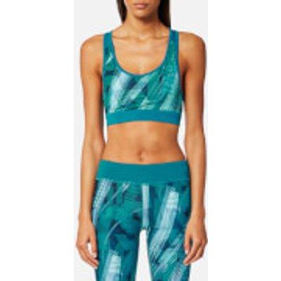 Asics Women s Racerback GPX Bra   Crystal Blue Condition Print   L   Blue - 8719021500032