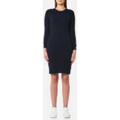 GANT Women s Stretch Cotton Cable Dress   Evening Blue   M   Blue - 7325701992915