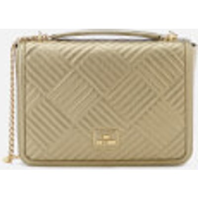 0d512ec39fe 8054653952188   Love Moschino Women s Shiny Quilted Chain Metallic Shoulder  Bag Gold