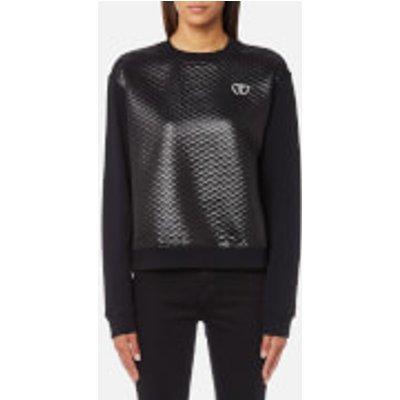 Love Moschino Women s Quilted Sweatshirt   Black   IT 44 UK 12   Black - 8056682935439