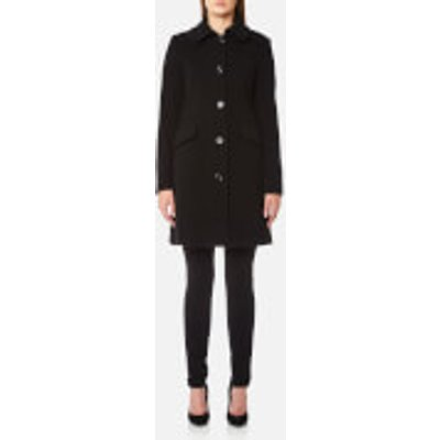 Love Moschino Women s Coat with Heart Ring Detail on Back   Black   IT 40 UK 8   Black - 8056682828557