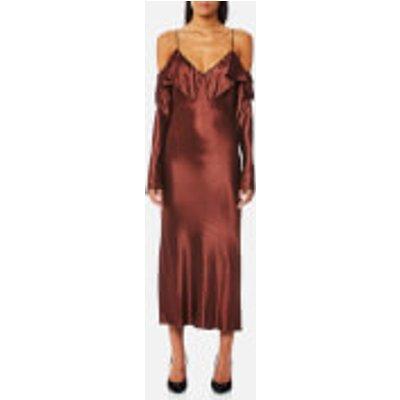 Bec   Bridge Women s Liquid Envy Flounce Midi Dress   Mahogany   UK 8   Red - 9339433152835