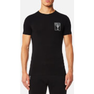 Versace Jeans Men s Small Chest Logo T Shirt   Nero   L   Black - 8057006314367