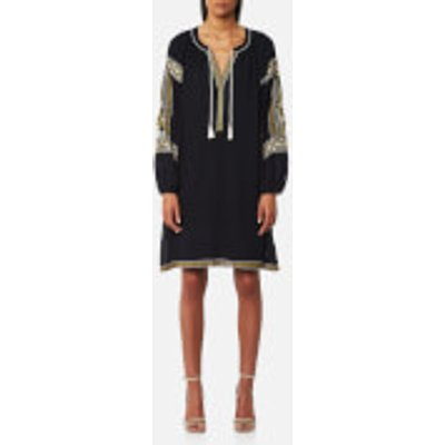 Maison Scotch Women s Embroidered Boho Dress   Night   M   Black - 8719028062854