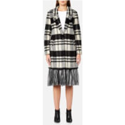 Maison Scotch Women s Bonded Wool Coat   Combo D   L   Multi - 8719028100365