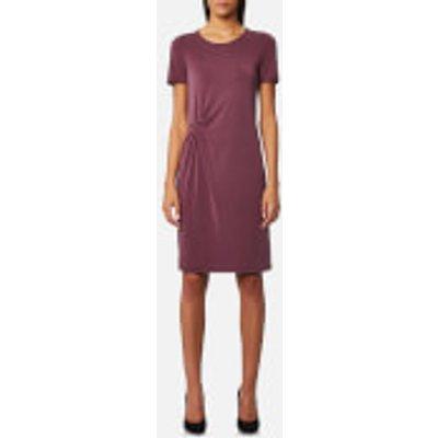 Selected Femme Women s Vivi Short Sleeve Drape Dress   Mauve Wine   XS   Purple - 5713610462162