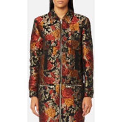 Gestuz Women s Edie Jacquard Jacket   Red   UK 8 EU 36   Red - 5712433974098