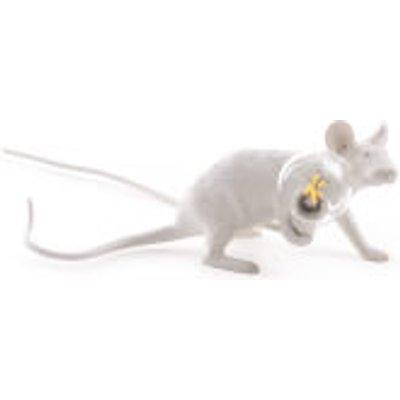 Seletti Lying Mouse Lamp - White