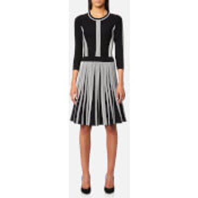 Karl Lagerfeld Women s Rib Dress   Black White   IT 38 UK 6   Black - 8718504607817