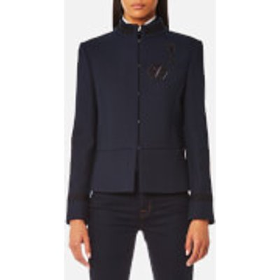 Karl Lagerfeld Women s Military Jacket with Patches   Peacoat   IT 42 UK 10   Blue - 8718504601846
