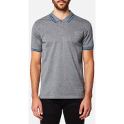 PS by Paul Smith Men's Zebra Logo Tipped Polo Shirt - Grey - L - Grey