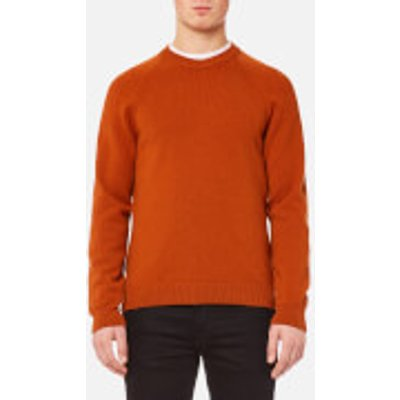 PS by Paul Smith Men's Heavy Merino Plain Knitted Jumper - Brick - L - Red
