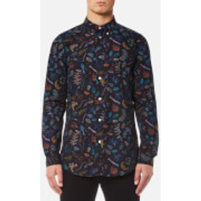 PS by Paul Smith Men's All Over Print Long Sleeve Shirt - Black - XXL - Black