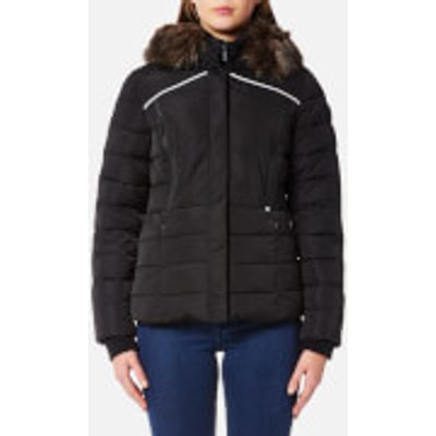 Superdry Women s Glacier Biker Coat   Black   L   Black - 5054576963196