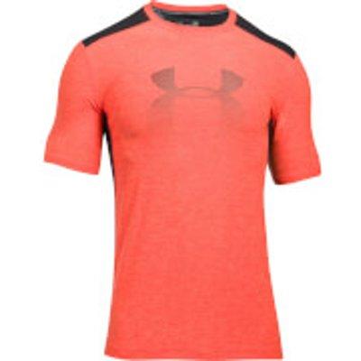 Under Armour Men s Raid Graphic T Shirt   Black Orange   L   Black Orange - 190510189071