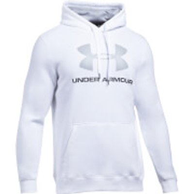 Under Armour Men s Rival Fitted Graphic Hoody   White   L   White - 190510003469