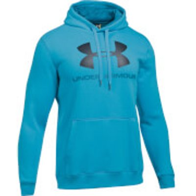 Under Armour Men s Rival Fitted Graphic Hoody   Blue   L   Blue - 190510003735