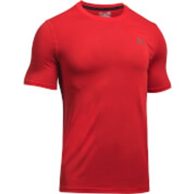 Under Armour Men s Threadborne Fitted T Shirt   Red   L   Red - 190510256469