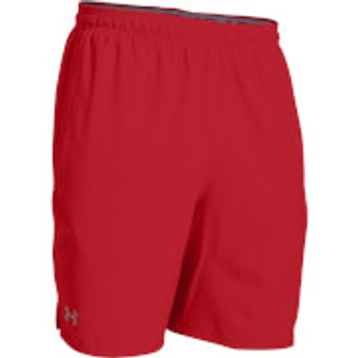 Under Armour Men s Qualifier 9 Inch Woven Shorts   Red   XL   Red - 889362818993