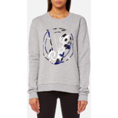 Versace Jeans Women s Gym Logo Jumper   Grey Melange   L   Grey - 8057006352109