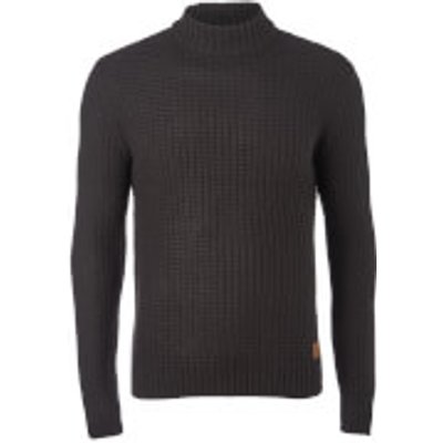 Threadbare Men's Griffin Turtleneck Jumper - Jet Black - L - Black