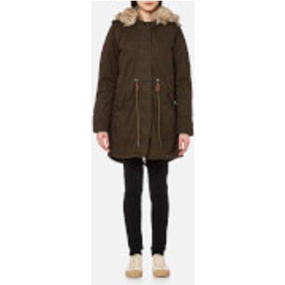 Superdry Women s Borderlands Faux Fur Lined Parka   Olive   M   Green - 5054265856228