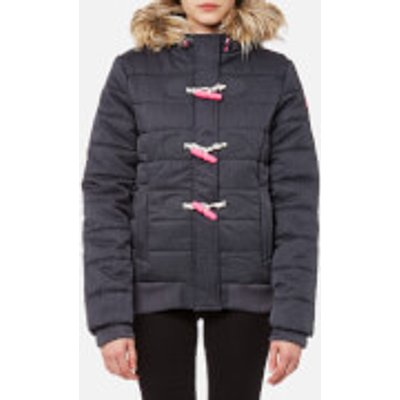 Superdry Women s Marl Toggle Puffle Jacket   Navy Marl   M   Blue - 5054265764943