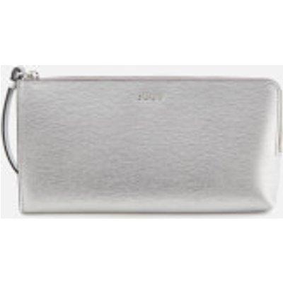 DKNY Women s Bryant Medium Wristlet Pouch Bag   Dark Silver - 802892840050