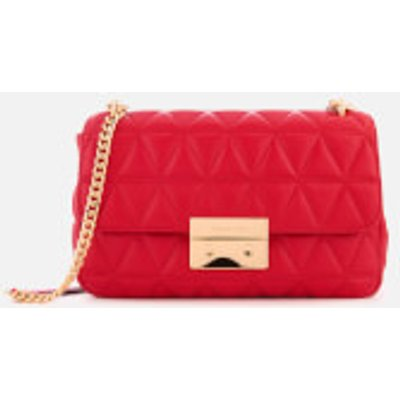 MICHAEL MICHAEL KORS Women s Sloan Large Chain Shoulder Bag   Bright Red - 191262390777