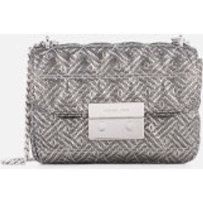 MICHAEL MICHAEL KORS Women s Sloan Small Chain Shoulder Bag   Silver - 191935080639