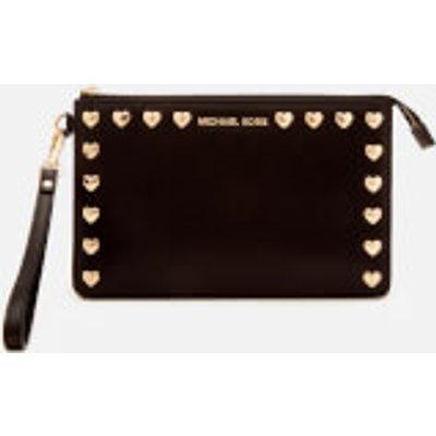 MICHAEL MICHAEL KORS Women s Medium Gusset Wristlet Bag   Black - 191935091055