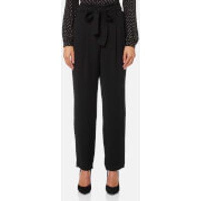 MICHAEL MICHAEL KORS Women s Carrot Shape Pleated Pants   Black   US 4 UK 8   Black - 191262801792