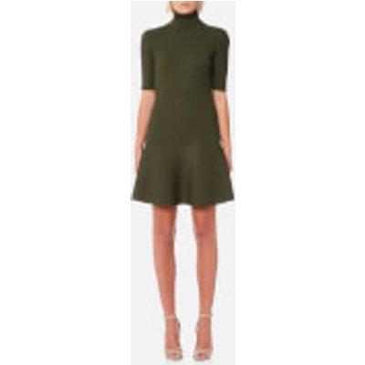 MICHAEL MICHAEL KORS Women s Tank Rib Flare Dress   Ivy   L   Green - 191262788390