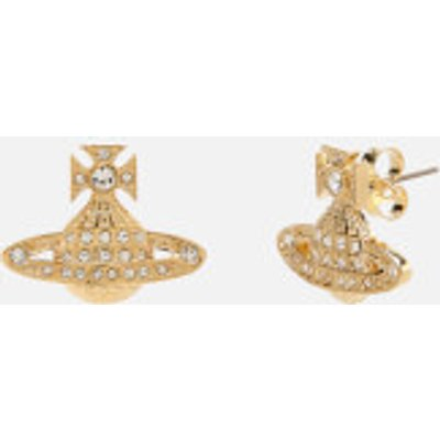 Vivienne Westwood Women's Minnie Bas Relief Earrings - White Crystal