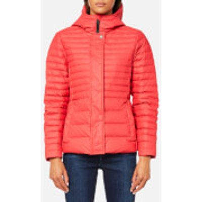 Hunter Women s Original Refined Down Jacket   Bright Coral   L   Coral - 5054916056342