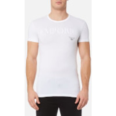 Emporio Armani Men s Stretch Cotton Crew Neck T Shirt   Bianco   XL   White - 8057019237530