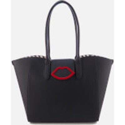 Lulu Guinness Women s Sofia Large Cupids Bow Tote Bag   Black - 5060405839990