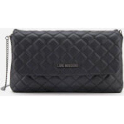 Love Moschino Women s Quilted Logo Cross Body Bag   Black - 8050537672425