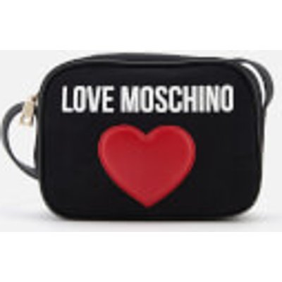 Love Moschino Women s Heart Logo Cross Body Bag   Black - 8050537836520