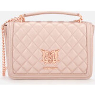 Love Moschino Women s Quilted Chain Cross Body Bag   Pink - 8050537938590